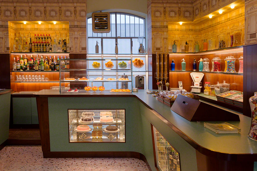 bar luce cafe candy counter wes anderson goodkin