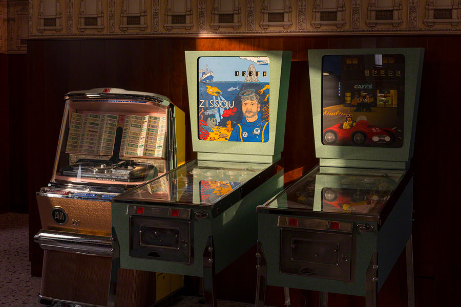 bar luce pinball machines wes anderson goodkin
